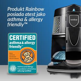Produkt Rainbow posiada atest jako asthma & allergy friendly